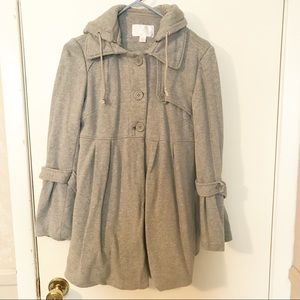 Women's Grey Bubble Pea Coat M